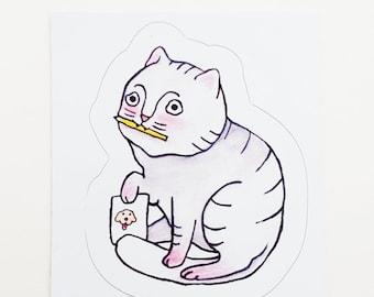 Vinyl Cat Sticker - Artist
