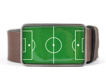 Belt Buckle, Soccer Field,  Sport Belt Buckle, For Him, Men's belt buckle