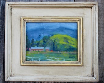 California Plein Air Landscape Oil Painting Original Wall Art Northern CA Point Reyes Seashore Paintings California Artist USA Made Artwork