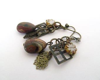 Jasper Bead Earrings, Rustic Gemstone Earrings, Dangle Earrings, Earthy Jewelry, Moonlilydesigns, Bohemian Jewelry