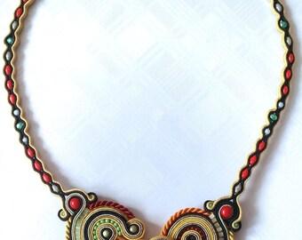 INDIAN SUMMER soutache necklace