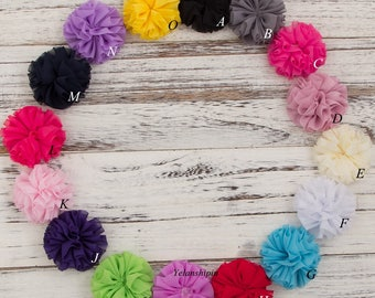 Fluffy Ballerina Chiffon Flower For Baby Girls Hair Accessories Artificial Fabric Flowers For Headbands Diy Supplies 6.5cm