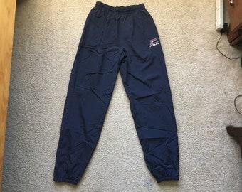 Men's Vintage 90s Fila Blue Insulated Windbreaker Jogger Sweatpants Size Medium