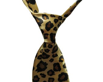 Leopard Print Dog / Cat Collar Necktie