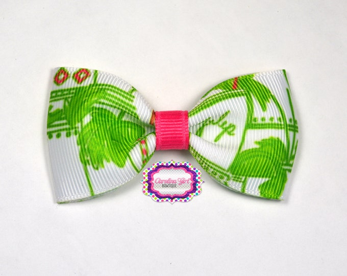 """Just Add Mint Julep ~ 3"""" Hair Bow Tuxedo Bow ~ Lilly Inspired ~ Simple Bow ~ Boutique Bow for Babies Toddlers ~ Girls Hair Bows"""
