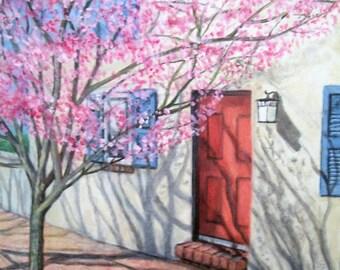 Dans le rose, peinture acrylique de 16 x 20