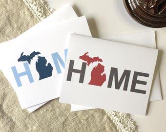 Michigan Home Decor, Michigan Love, Michigan Greeting Card, Michigan Home, Michigan Card, Michigan Notecard, Michigan Cards, Michigan Gift