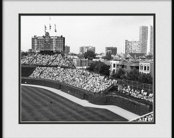 Chicago Cubs Print - Old Cubs Bleacher Seats
