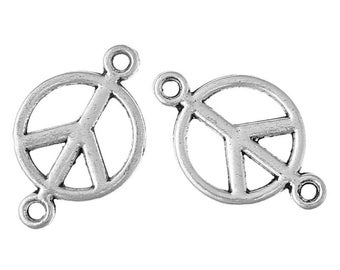 10 connector Dragon silver metal