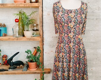 Marion Liberty Print Dress - paisley dress - floral dress - fall fashion - casual dress - petite dress - Liberty of London dress