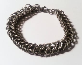 Stainless Steel Box Weave Chainmail Bracelet - Square Chainmaille Jewellery