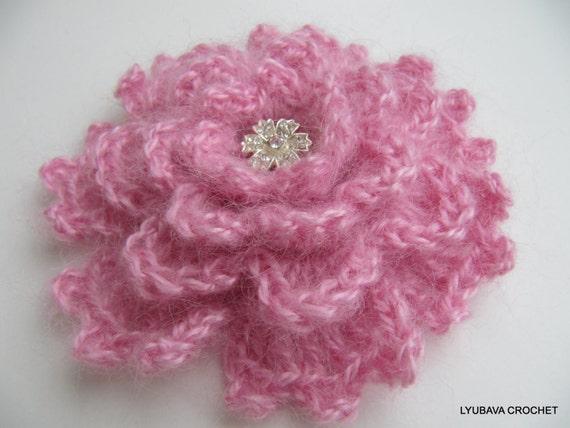 Crochet Flower Pattern Crochet Brooch Pattern Flower Brooch