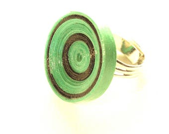 Ring green recycled cardboard