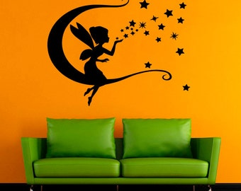 Faerie Vinyl Decal Fairy Wall Sticker Fairytale Vinyl Decals Wall Vinyl Decor /7fhk/