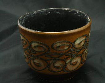 east german pottery planter by Strehla