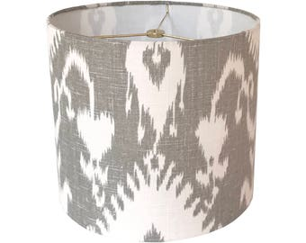 textured grey shade with the shades crystals co light smartcasual lamp range