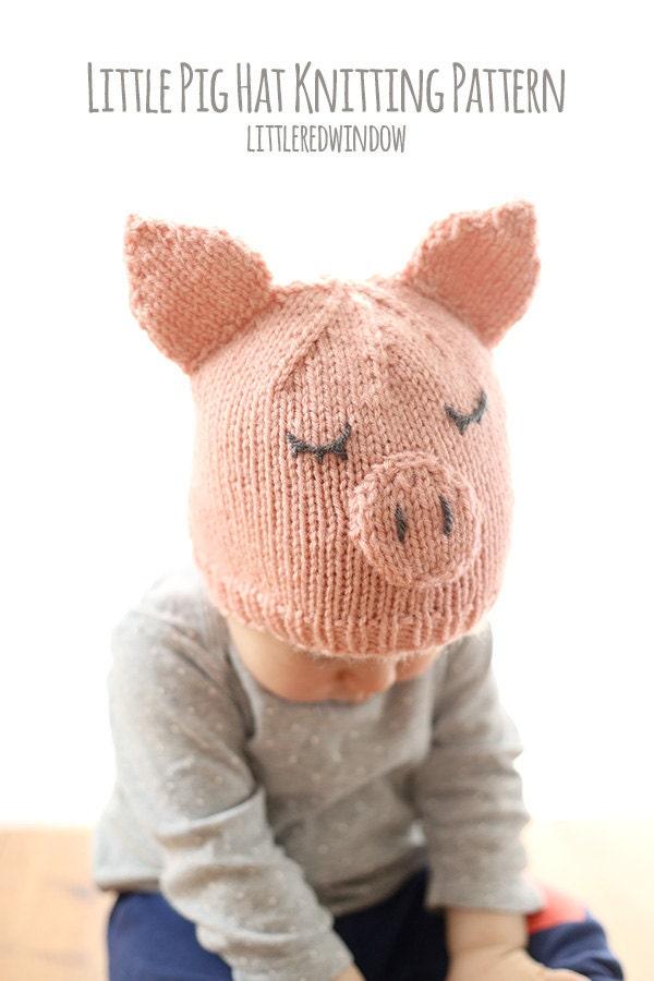 Schwein Babymütze Strickanleitung / Schwein Strickmuster