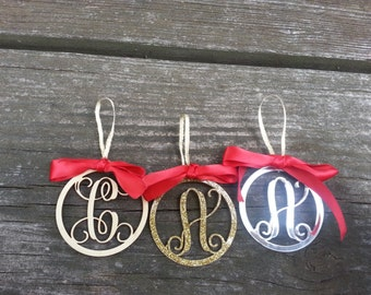 Personalized Initial Ornaments