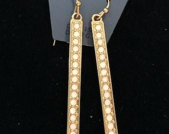 Pilgrim - Long bar dangle earrings