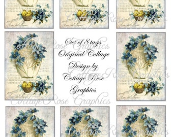 Digital EASTER gift tags French greeting Hot air balloon  download buy 3 get one free  ecs rdtt sfvteam