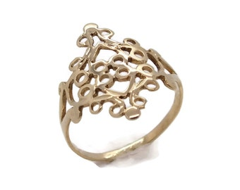 Gold Filigree Ring, Womens Rings, Womens Jewellery, Womens Ring, Gold Rings Women, Gold Ring Women, Womens Gold, Filigree Ring
