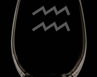 13 onces Verseau personnalisé sans verre de vin