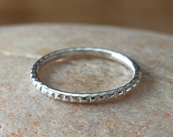 Ridged Stacking Ring, Sterling Silver Ring, Size 3 to 15, Stacker Ring, Textured Stacking Ring, Stacker Ring, Womens Stack Ring, Stackable