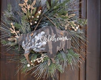 Buffalo | Oklahoma | Hanging Decor | Front Door Decor | Home Decor