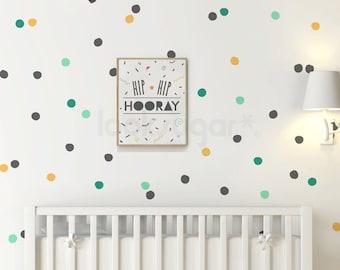 Hand Drawn Polka Dot Wall Decals - Pattern Wall Stickers - Polka Dot Decals - AP0063NF