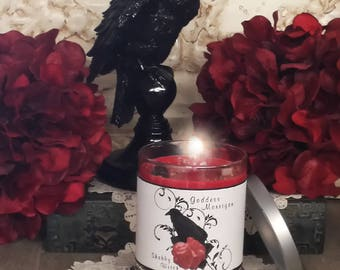 11.oz Morrigan Candle, Morrigan, Dark Goddess Candles, The Phantom Queen, Mare-Queen