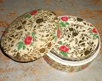 Vintage Coasters, Floral, Roses, Pink, Gold, Chintz, 8 Coasters, Shabby, Coaster Set, Cottage Decor