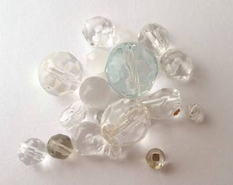 Vintage Clear Glass Beads