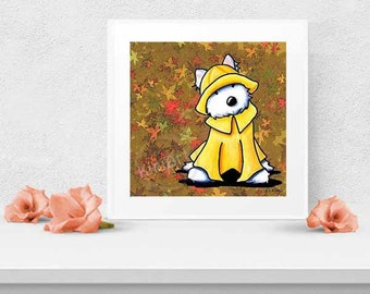 PNW Westie Terrier Dog Art PRINT Signed Reproduction