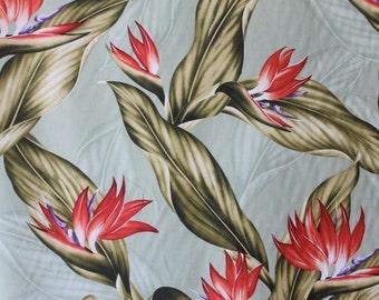 Tropical Cotton Hawaiian Print  (Yardage Available)