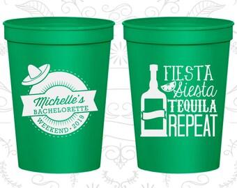 Fiesta Siesta, Tequila Repeat, Custom Bachelorette Party Cup, Mexican Bachelorette Cups, Bachelorette Weekend Cups, Bachelorette Cup (60004)