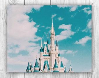Walt Disney World Cinderella Castle, Magic Kingdom, Photography - 8x10