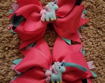 Unicorn hairbows
