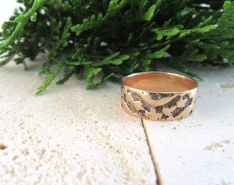 Antique Victorian Wedding Band, Wide Antique Wedding Band, Wide Wedding Band, Cigar Band, Embossed Wedding Band