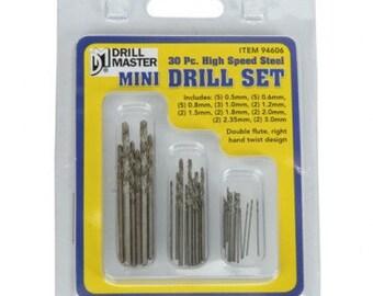 DRILL BIT SET Mini 30 pc. High Speed Steel -  Jewelry Tools for Metal Work - Drilling Metal - 606