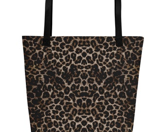 Beach Bag - Leopard Print, fun, playful - Allow 3 weeks for delivery