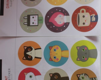 Kawaii/ Cute Large cat stickers