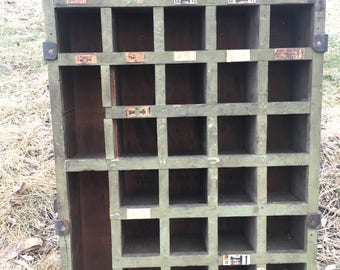 Old Hardware Store Cabinet Cubby or Cupboard