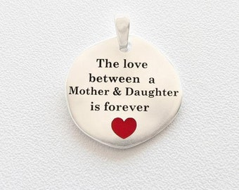 Necklace Silver 925 without chain The love of a mother and a daughter