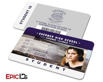 "The Breakfast Club Inspired ""Allison Reynolds"" Student ID"