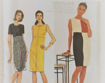 Vintage Simplicity sewing pattern 7500 - Misses' dress - size 12 14 16