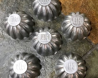 Vintage JELL-O Advertising Individual Serving Molds.  Set of 6.