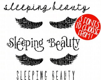 Sleeping Beauty Svg Cut File - Baby Svg Cut File - Baby Halloween Svg Cut File - New Born Girl Svg Cut File - Eyelashes Svg - Lashes Svg