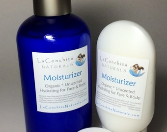 Gentle Face and Body Moisturizer with Organic Shea Butter -  4 oz Unscented Lotion - No Parabens - Effective, Vegan, Minimalist Formula