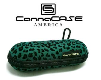 CannaCASE - Velvet Leopard Print - Small Pipe Case - Foam, Odor Control, and Lock Incl