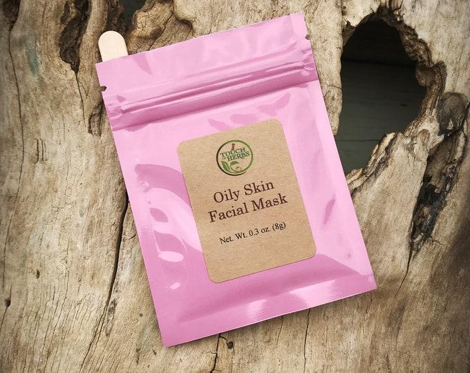 Facial Mask for Oily Skin - Herbal facial masks - Natural skin care - Herbal skin product - Face mask sample - Gift basket idea - Natural